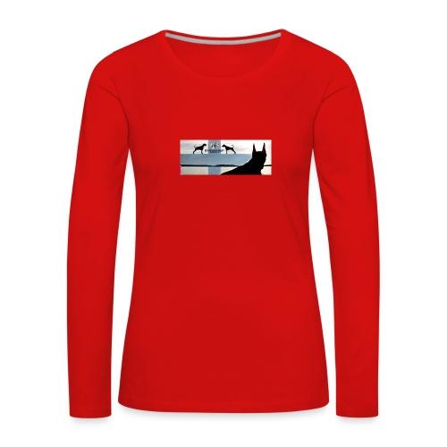 FBtausta - Naisten premium pitkähihainen t-paita