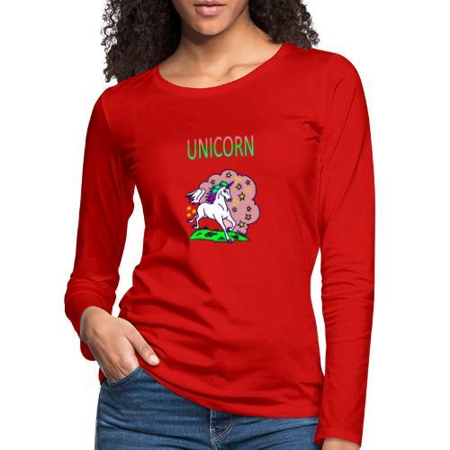 Einhorn unicorn - Frauen Premium Langarmshirt