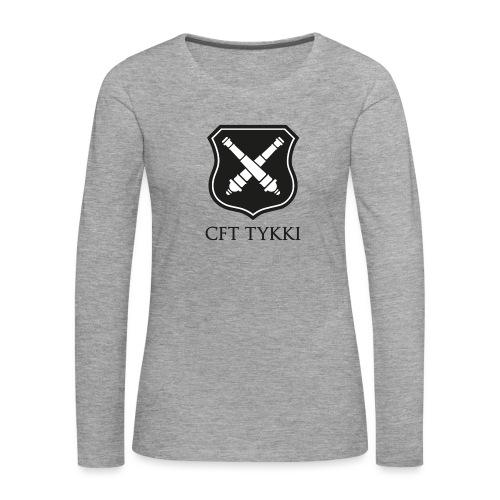 Tykki logo musta - Naisten premium pitkähihainen t-paita