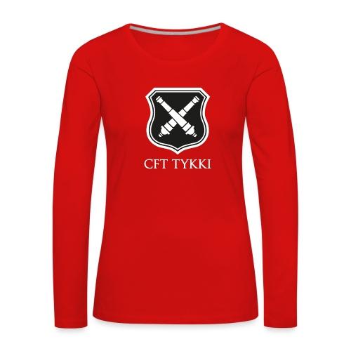 CFT Tykki valk teksti - Naisten premium pitkähihainen t-paita