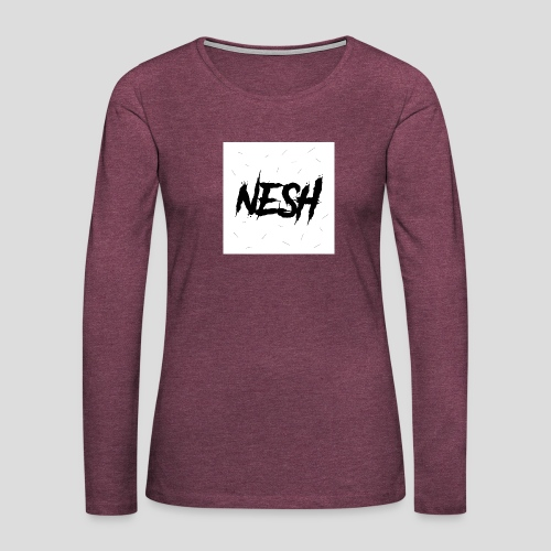 Nesh Logo - Frauen Premium Langarmshirt