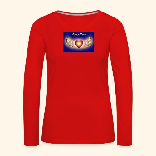 Flying Heart - Frauen Premium Langarmshirt