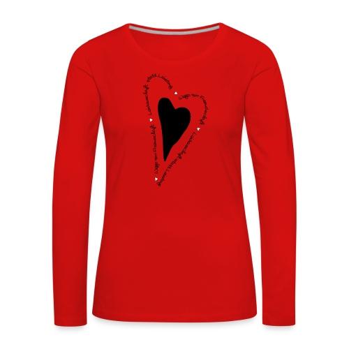 Ullihunde - Herz - Frauen Premium Langarmshirt
