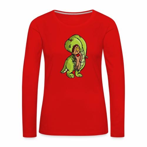 Dinosaurio vodoo - Camiseta de manga larga premium mujer