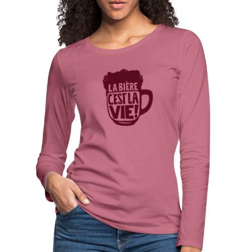 bière, la bière c'est la vie - T-shirt manches longues Premium Femme