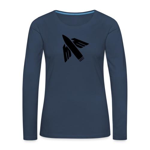 Ilmatorjuntamies - Naisten premium pitkähihainen t-paita