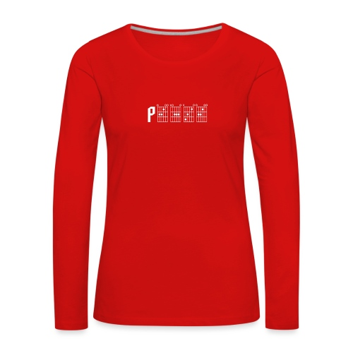Peace through the power of a guitar chord - Women's Premium Longsleeve Shirt