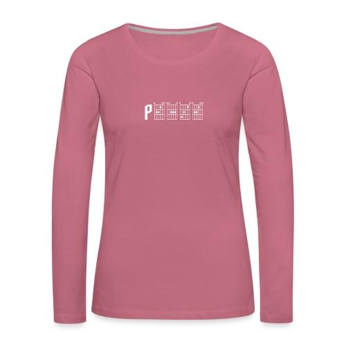 Peace through the power of a guitar chord - Women's Premium Longsleeve Shirt