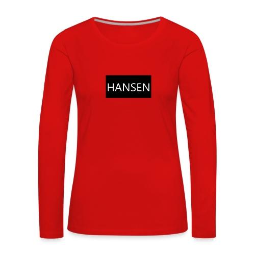 HANSENLOGO - Dame premium T-shirt med lange ærmer