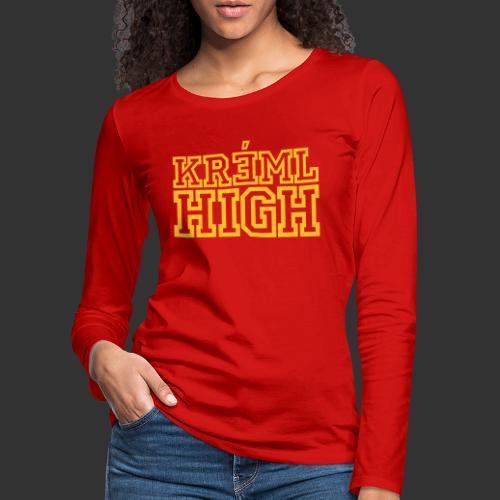 Kreml High - Långärmad premium-T-shirt dam