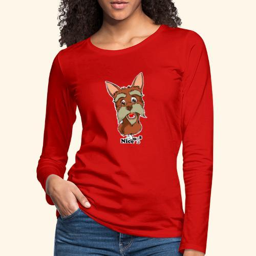 Nice Dogs schnauzer - Maglietta Premium a manica lunga da donna