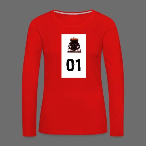 Boar blood 01 - Koszulka damska Premium z długim rękawem