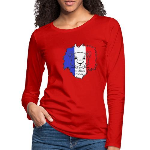 Lion supporter France - T-shirt manches longues Premium Femme