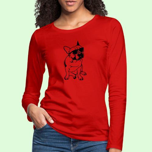 Bouledogue Français au soleil - T-shirt manches longues Premium Femme