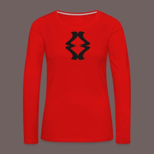 GBIGBO zjebeezjeboo - Rock - As de pique - T-shirt manches longues Premium Femme