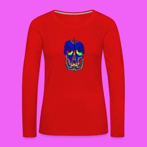 craneos 2 - Camiseta de manga larga premium mujer