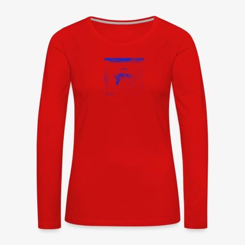 Hyena Blue - Långärmad premium-T-shirt dam