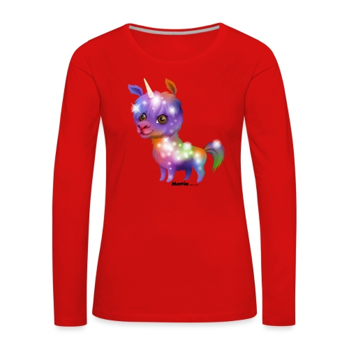 Llamacorn - Naisten premium pitkähihainen t-paita