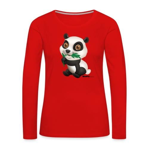 Panda - Premium langermet T-skjorte for kvinner