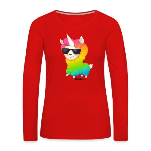 Rainbow animo - Naisten premium pitkähihainen t-paita