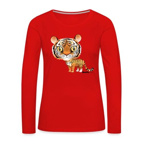 Tiikeri - Naisten premium pitkähihainen t-paita