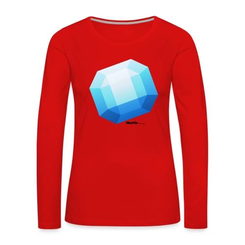 Safir - Premium langermet T-skjorte for kvinner