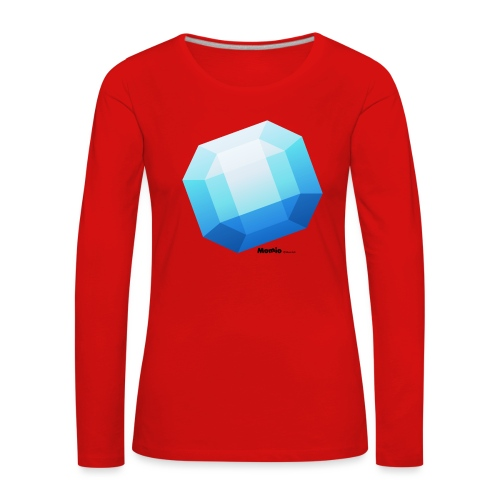 Szafir - Koszulka damska Premium z długim rękawem