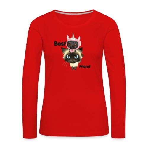 Best friend by BrightSoull. - Premium langermet T-skjorte for kvinner
