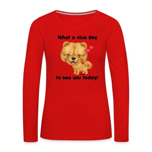 Miły dzień przez Niszczacy - Koszulka damska Premium z długim rękawem