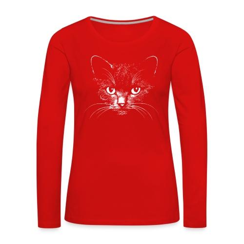 Vorschau: black cat - Frauen Premium Langarmshirt