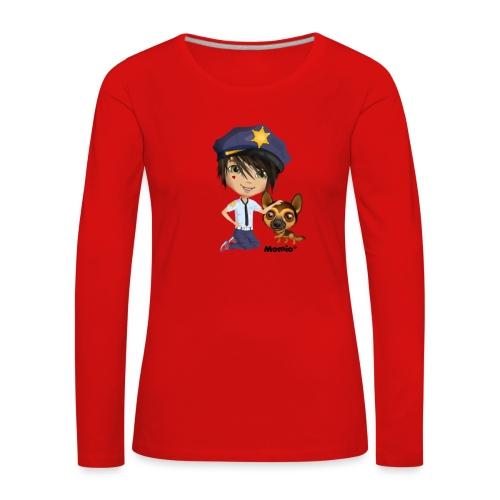 Jack ja koira - kirjoittanut Momio Designer Cat9999 - Naisten premium pitkähihainen t-paita