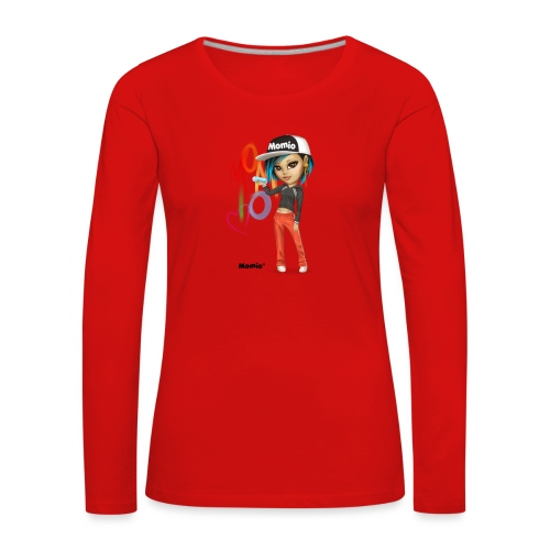 Maya - av Momio Designer Cat9999 - Premium langermet T-skjorte for kvinner