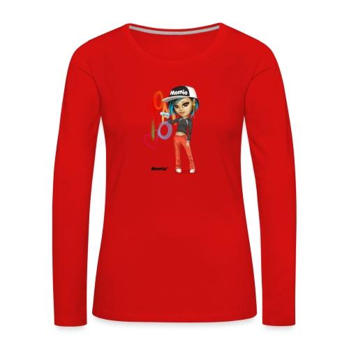 Maya - kirjoittanut Momio Designer Cat9999 - Naisten premium pitkähihainen t-paita