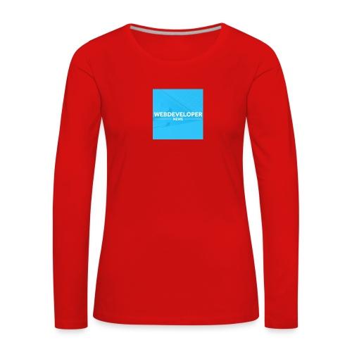 Web developer News - Frauen Premium Langarmshirt
