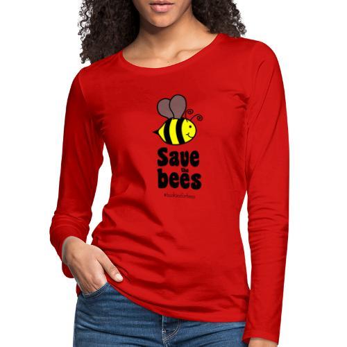 Bees9-1 save the bees | Bienen Blumen Schützen - Women's Premium Longsleeve Shirt