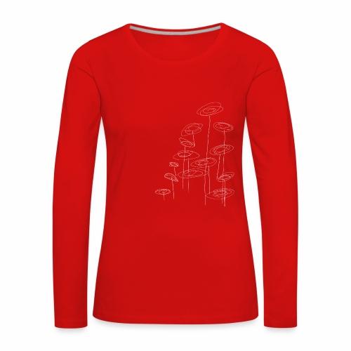 abstract bloemen 002 - Vrouwen Premium shirt met lange mouwen