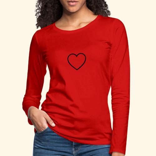 heart 512 - Dame premium T-shirt med lange ærmer