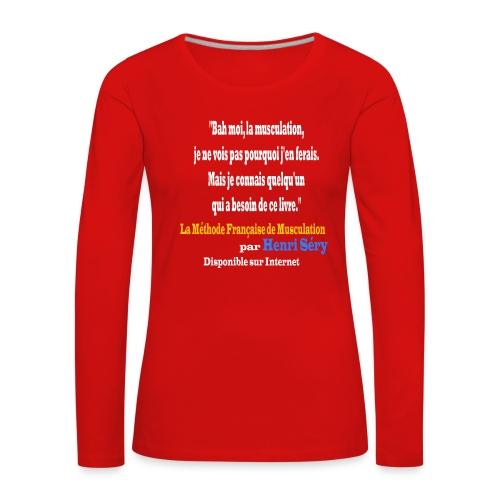 LMF Sante 2 v2 - T-shirt manches longues Premium Femme