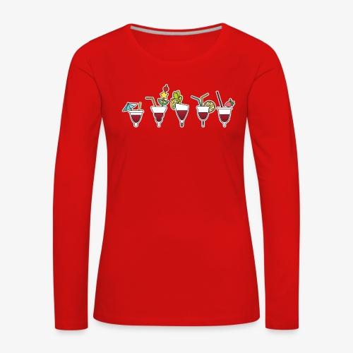 Soirée cuptails - T-shirt manches longues Premium Femme