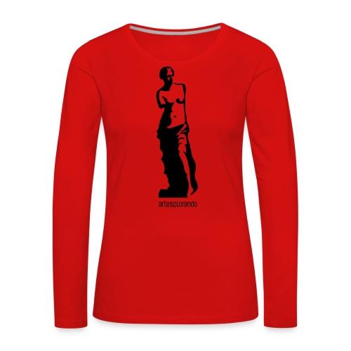 Venere di Milo - Maglietta Premium a manica lunga da donna
