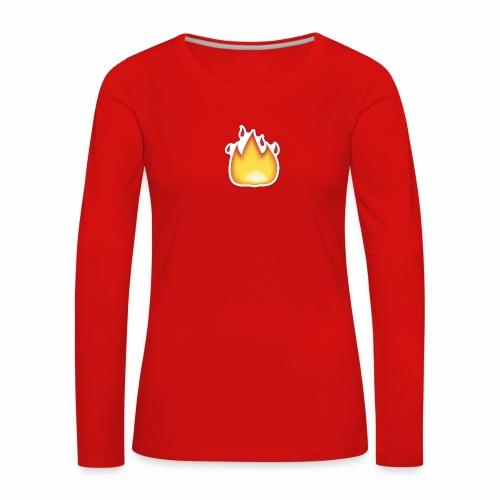 Liekkikuviollinen vaate - Naisten premium pitkähihainen t-paita