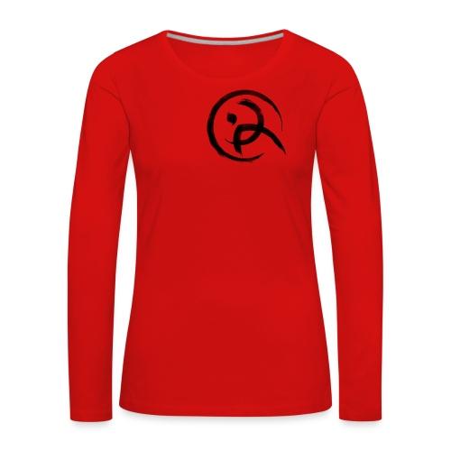 PKA_Enso_black - Frauen Premium Langarmshirt