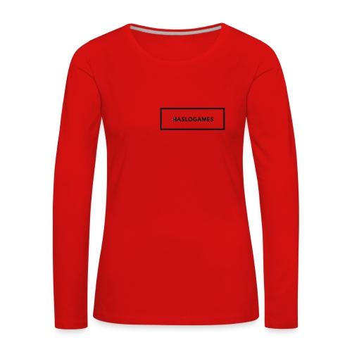 HasloGames White/Black edition! - Vrouwen Premium shirt met lange mouwen