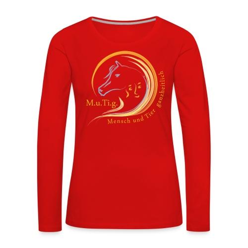 Logo Gnadenhof Mutig mit Text png - Frauen Premium Langarmshirt