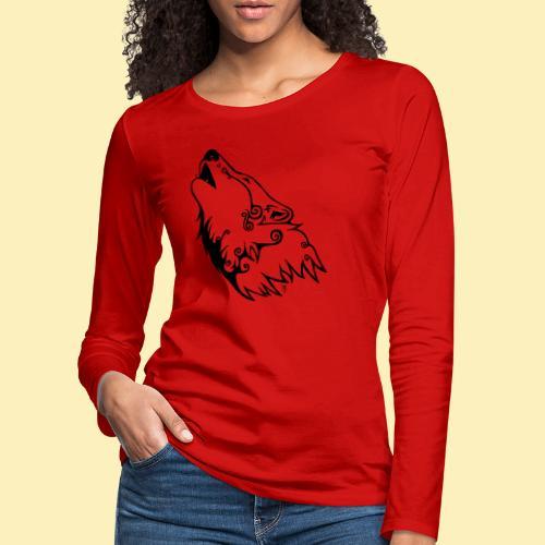 Le Loup de Neved (version traits) - T-shirt manches longues Premium Femme
