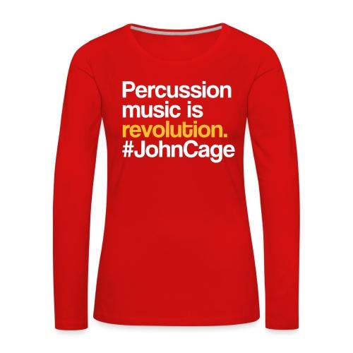 John Cage - Percussion Music (Schlagzeug Motiv) - Frauen Premium Langarmshirt
