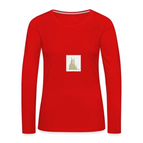Histogramm NV jpg - Frauen Premium Langarmshirt
