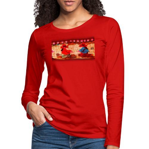 Dos Paisanitas tejiendo telar inca - Frauen Premium Langarmshirt