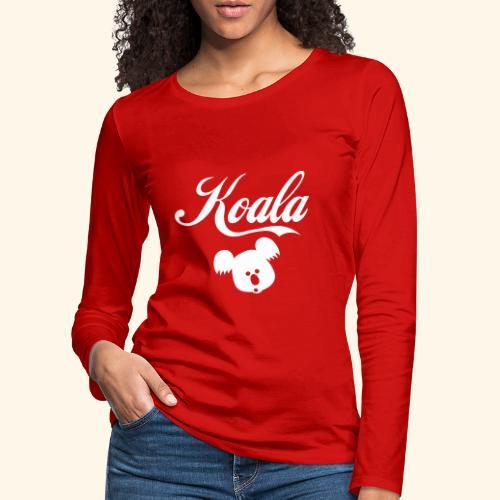 Koala Kawaii Comic Design für Australien Fans - Frauen Premium Langarmshirt