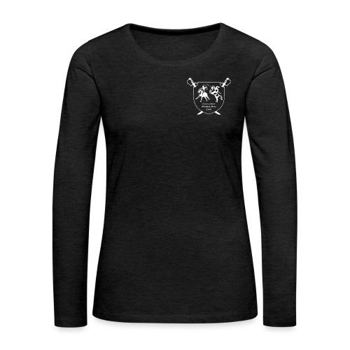 logo miekallinen vastaväri - Naisten premium pitkähihainen t-paita